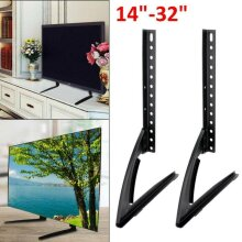 "Universal Table Top TV Stand Base VESA Pedestal Mount 14""-32"" LCD LED"