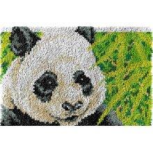 Panda Rug Latch Hooking Kit (64x48cm blank canvas)
