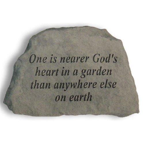 Kay Berry- Inc. 41920 One Is Nearer Gods Heart In A Garden - Garden Accent - 6.5 Inches x 4.5 Inches x 1.5 Inches