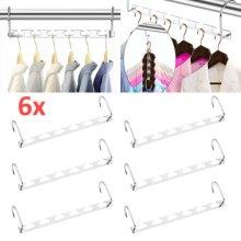 6X Space Saver Metal Magic Hanger Clothes Closet Organize Hook