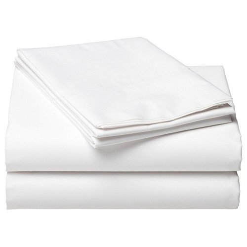 White Cotton Rich Hotel Quality Bed Linen - Flat Sheet Or Pillow Cases
