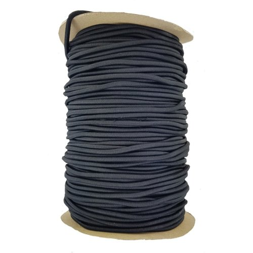 (Black 5 mm round 2 metres long) Elastic Cord 5 mm round sold in lengths of 2,3,4,5, Metres