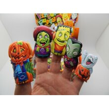 Finger Puppets Halloween Party Bag Filler Stocking Loot 5 Mini