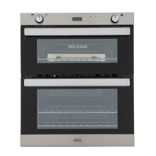Belling BI702G Double Built Under Gas Oven, Stainless Steel - Used
