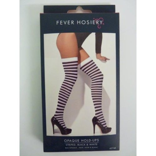 Fancy Dress Ladies Striped Opaque Tights Black /& Purple by Smiffys