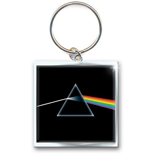 Merch - Pink Floyd-dark Side Of The Moon -keychain- - Floyd Dark Metal Key Ring -  pink floyd dark side moon metal key ring keychain official