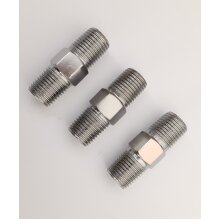 """Pack of 3 Compressor Airline Fittings 1/4""""BSPT Male Equal Ended FT001"""