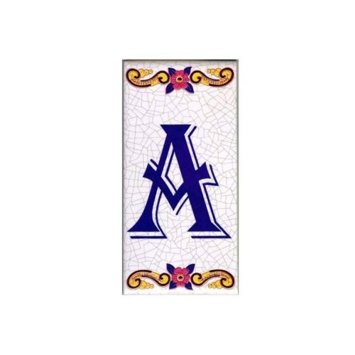 Ceramic Letter Tiles & House Number Tiles | Customised Portuguese Ceramic Tiles