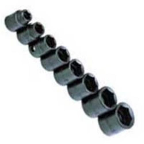 38in. Drive 6 Point Impact Socket Set - 8 Pieces