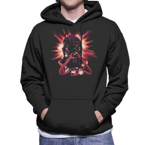 Original Stormtrooper Imperial Pilot TIE Helmet Explosion Men's Hooded Sweatshirt