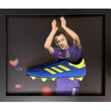 Framed John Terry signed Adidas boot with COA & proof