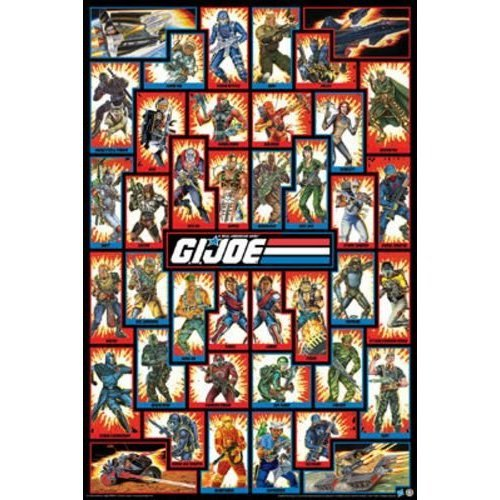 Joe Poster G.I Cast Team Group Wall Art Licensed Gifts Toys 241268