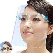 8PCS All-Round Cap with Clear Wide Visor Spitting Anti-Fog Lens