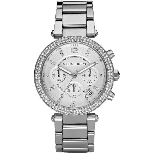 Michael Kors Parker Ladies' Watch MK5353 | Chronograph Silver Dial | Stainless Strap