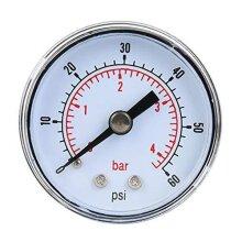 Mechanical Pressure Gauge, 1/8inch BSPT Axial Pressure Gauge for Air Oil and Water(0-60psi,0-4bar)