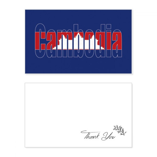 cambodia country flag name thank you card birthday paper
