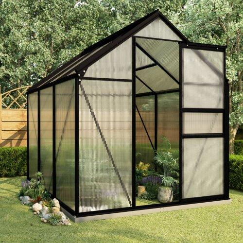 vidaXL Anthracite Aluminium Greenhouse
