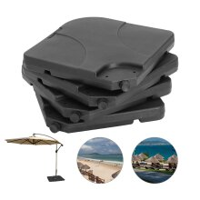 4PC OUTDOOR CANTILEVER UMBRELLA PARASOL BASE STAND WEIGHTS SAND