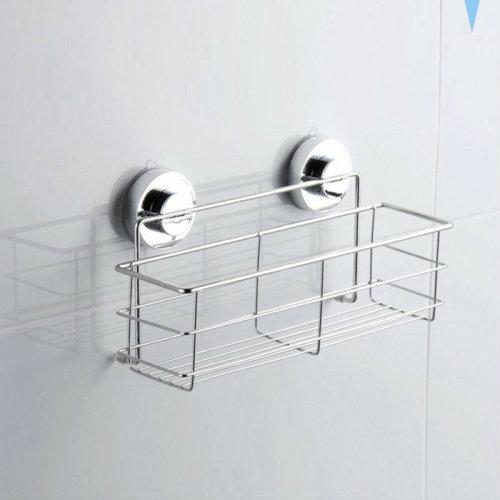 Bath Shower Caddy Suction Bathroom Organize Tidy Basket Non Rust Stainless Steel