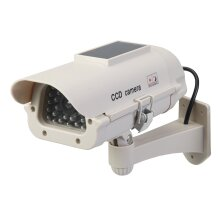 Silverline Heavy Duty High Security Dummy CCTV Camera With LED Solar Powered ( UK )