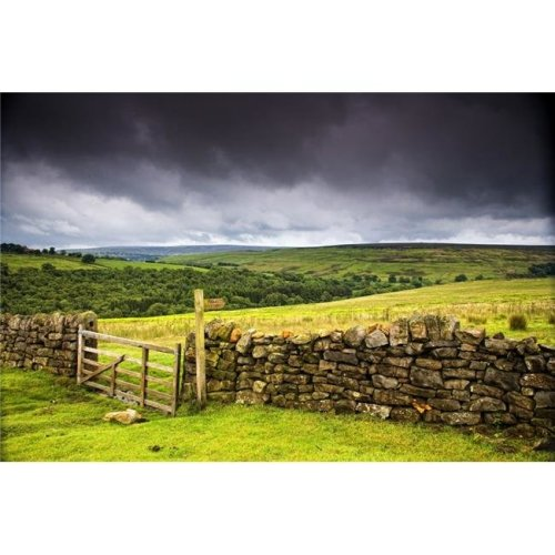 Stone Fence Yorkshire England Poster Print by John Short, 18 x 12
