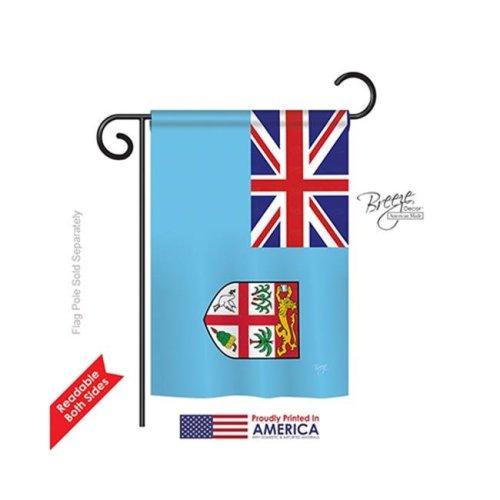 Breeze Decor 58264 Fiji 2-Sided Impression Garden Flag - 13 x 18.5 in.