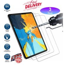 (3 Pack) Ultra Clear 9H Scratch Resistant HD Quality Tempered Glass Screen Protector for Apple iPad Pro 11 inch 1st / 2nd / 3rd Gen (2021/2020/2018)