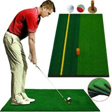 Golf Mat Training Practice Aids Trainer Hitting Putting Home Backyard Pad