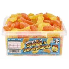 Sweetzone Orange and Lemon Slices Sweets Tub 960g