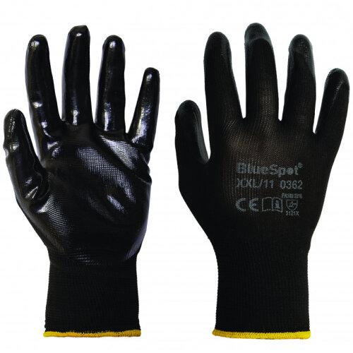 BlueSpot Nitrile Griper Gloves (med, lge, XL, XXL