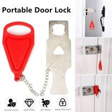 Portable Door Lock Hardware Safety Security Home Travel Hotel Lock