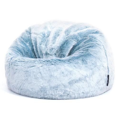 (Frozen Blue) Kids Faux Fur Bean Bag Chair