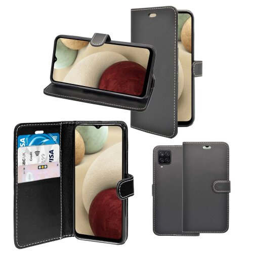 For Samsung Galaxy A12 Wallet Flip PU Leather Pouch Case Cover