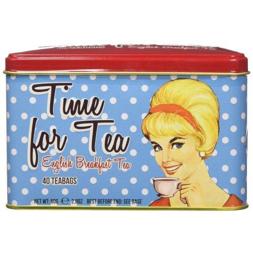 New English Teas Memorabilia Range Time for Tea 40 Teabag Tin 80 g