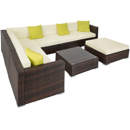 Outsunny 6 Pieces Rattan Funiture Set Conservatory Sofa ...