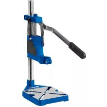 VOREL Drill Stand Metal Blue Workbench Pillar Pedestal Clamp Vice Table 79640