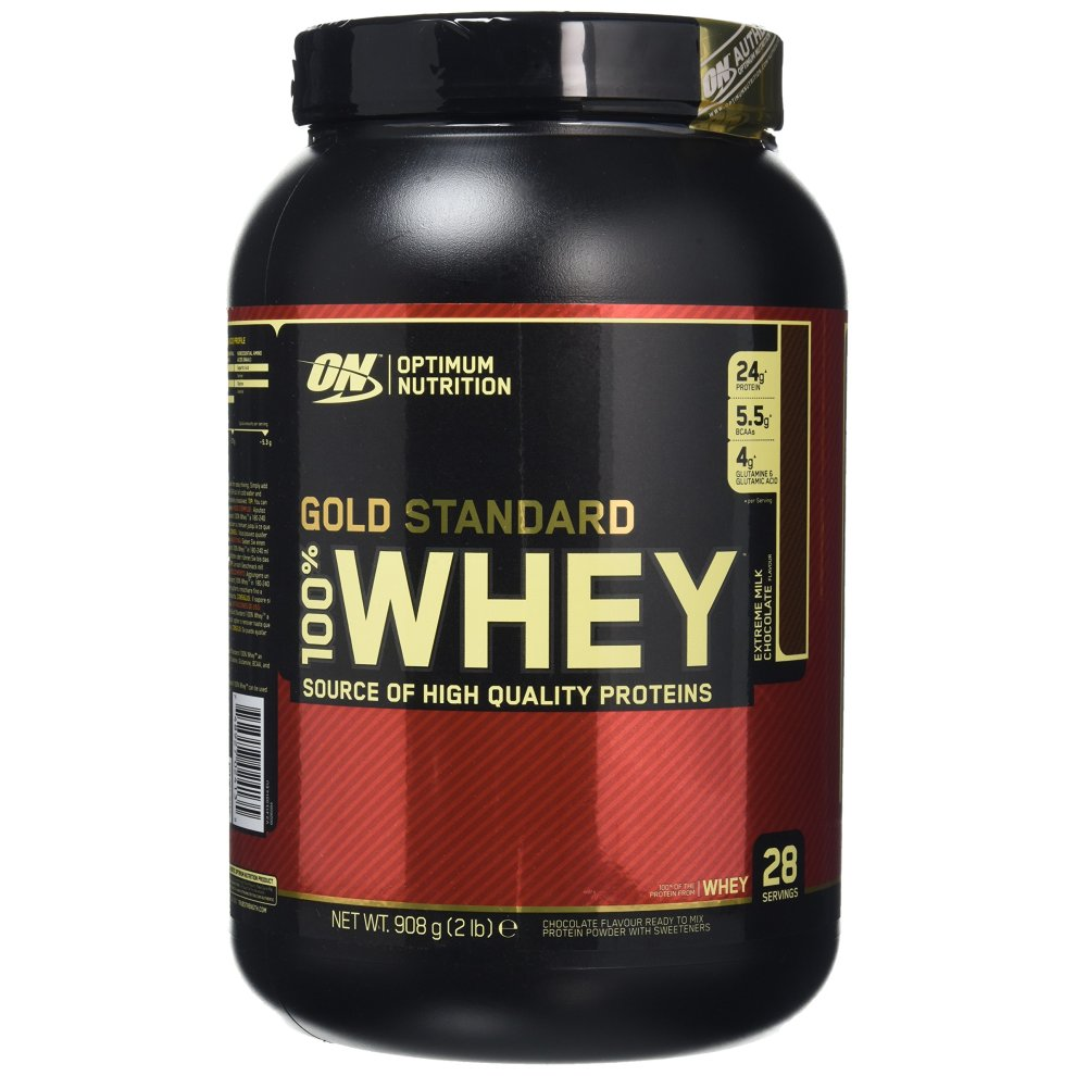 Optimum Nutrition Gold Standard 100% Whey Protein Powder - 908 g, Milk Chocolate