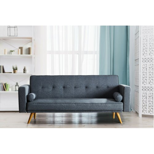 (Grey) Miami 3 Seater Sofa Bed