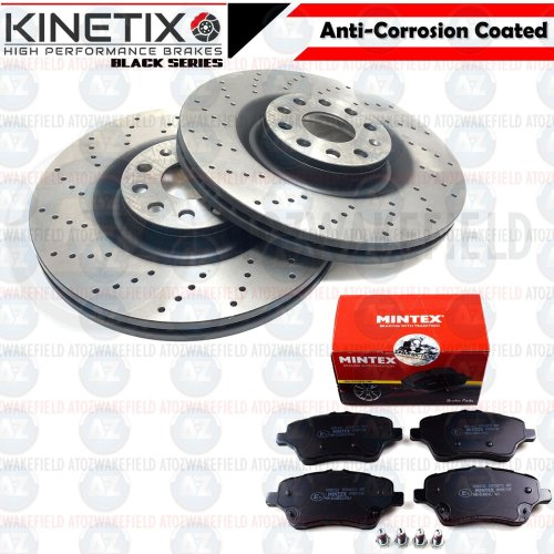 FIESTA MK7 Performance Brake Discs and Pads Dimpled and Grooved with MINTEX