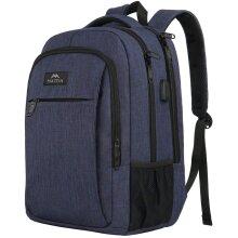 "School Backpack 15.6"", Slim Laptop Rucksack with USB Charging Port Anti Theft High School Computer Backpack Bag Water Resistant College Stud"
