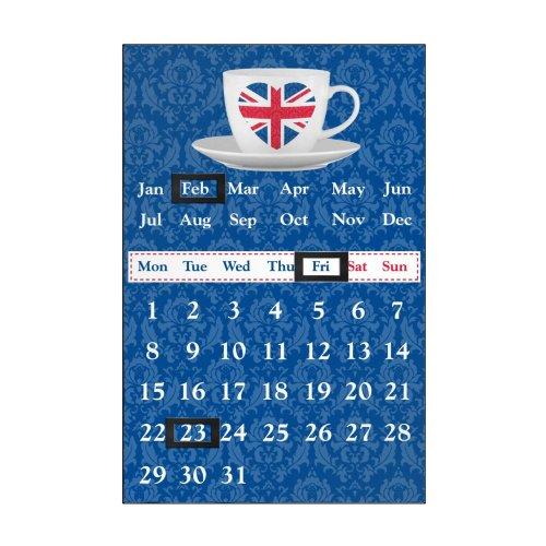 I Love UK Magnetic Calendar