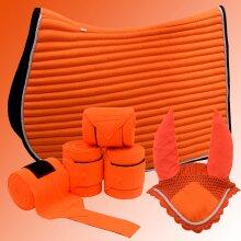 Matchy set Saddle Pads & Fly Veil & Fleece Bandage