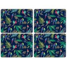 Sara Miller Parrot Placemats, Set of 4