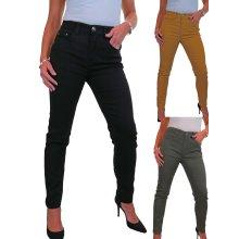 Women's Soft Stretch Denim Jeans High Waist Solid Colour 10-22