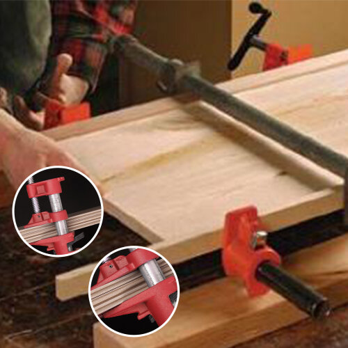 Quick Release 3/4'' Wood Gluing Pipe Clamp For Woodworking Cast Iron