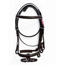 LEATHER HORSE BRIDLE WITH REINS BROWN COLOR ALL SIZES