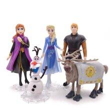 5pcs Anna Elsa Frozen 2 Mini Action Figure Toy