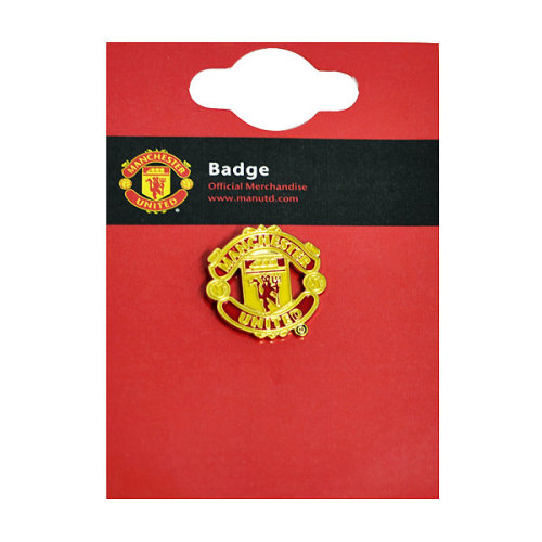 Manchester United Big Crest Pin Badge - Multi-colour - Fc Official Football -  manchester united badge fc official football pin crest