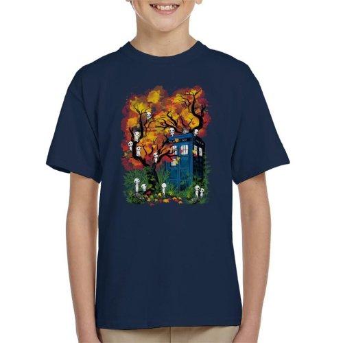 Doctor Who Studio Ghibli Kodama Forest Kid's T-Shirt