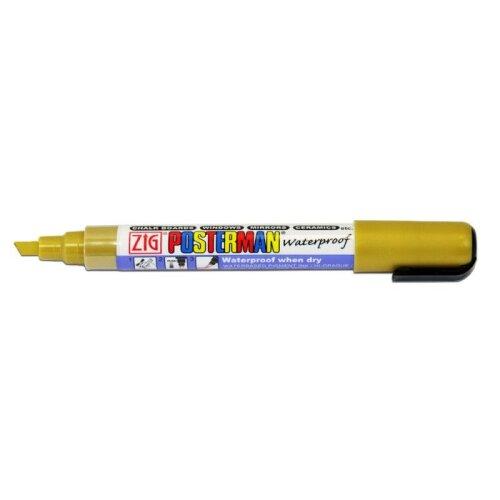 Gold Zig Posterman Waterproof Liquid Chalk Marker Pen 6mm Nib PMA-50